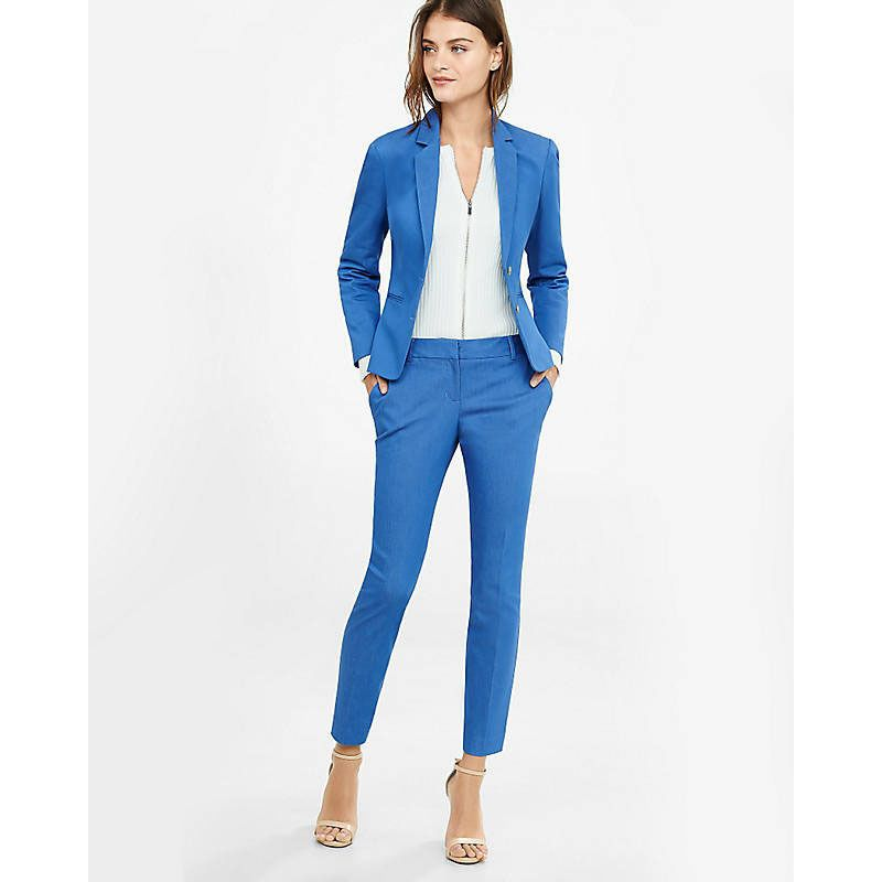 Details About Lake Blue Womens Trouser Suits Groom Tuxedo Ladies