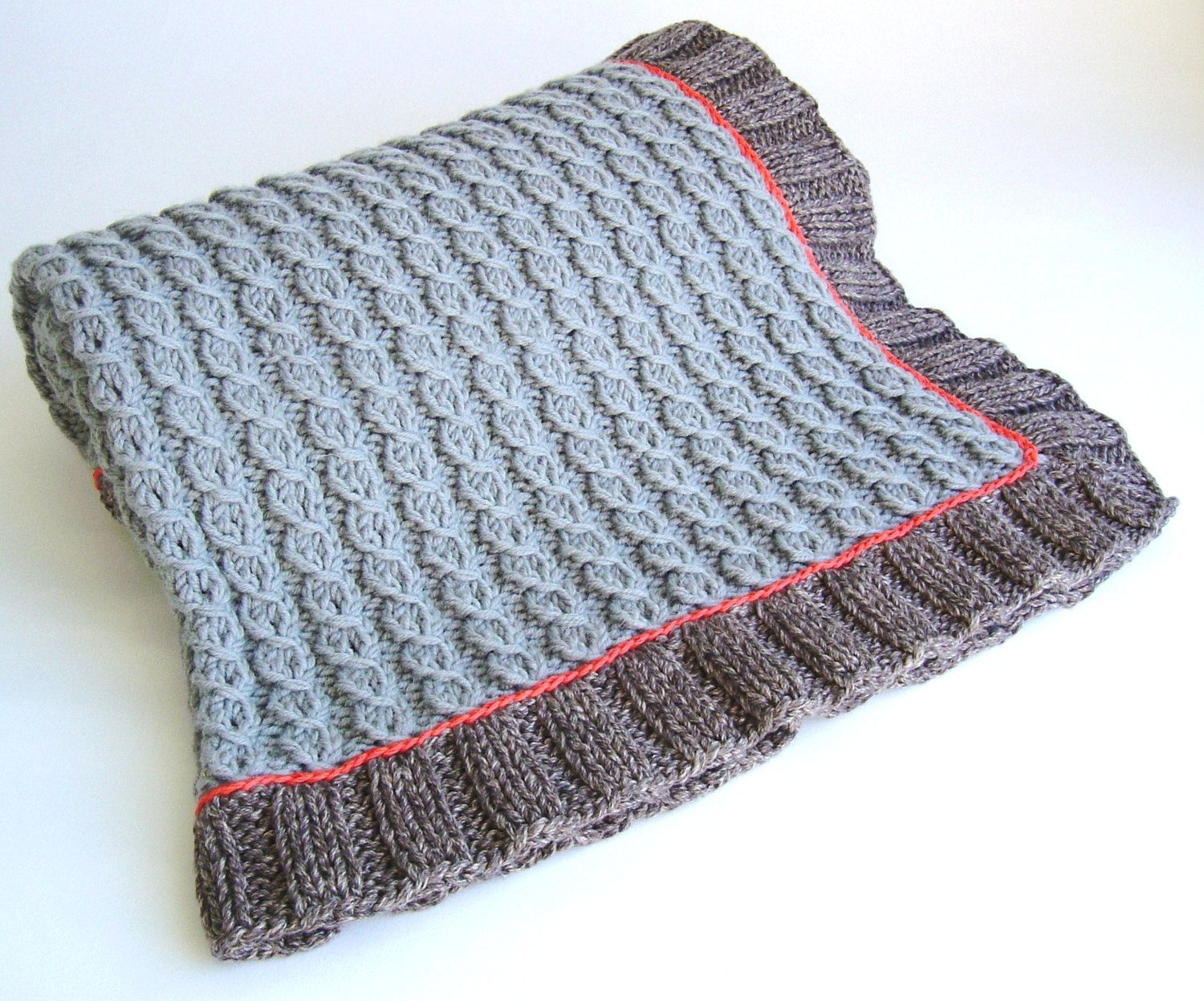 Knitting PATTERN Mock Cable Baby Blanket Easy Knit Lap Blanket ...