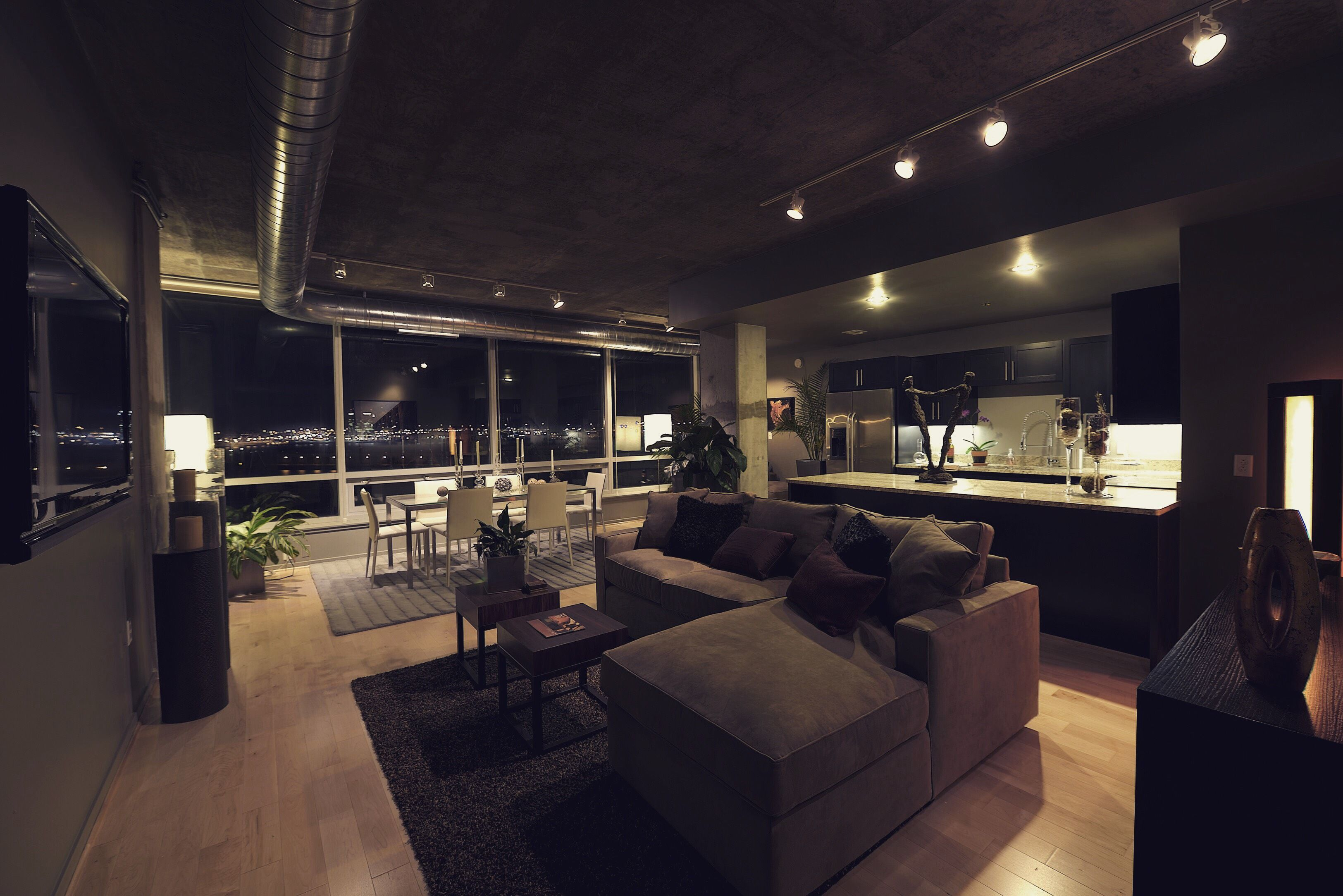 Night Time Is The Right Time Model Home Living Room Home Model