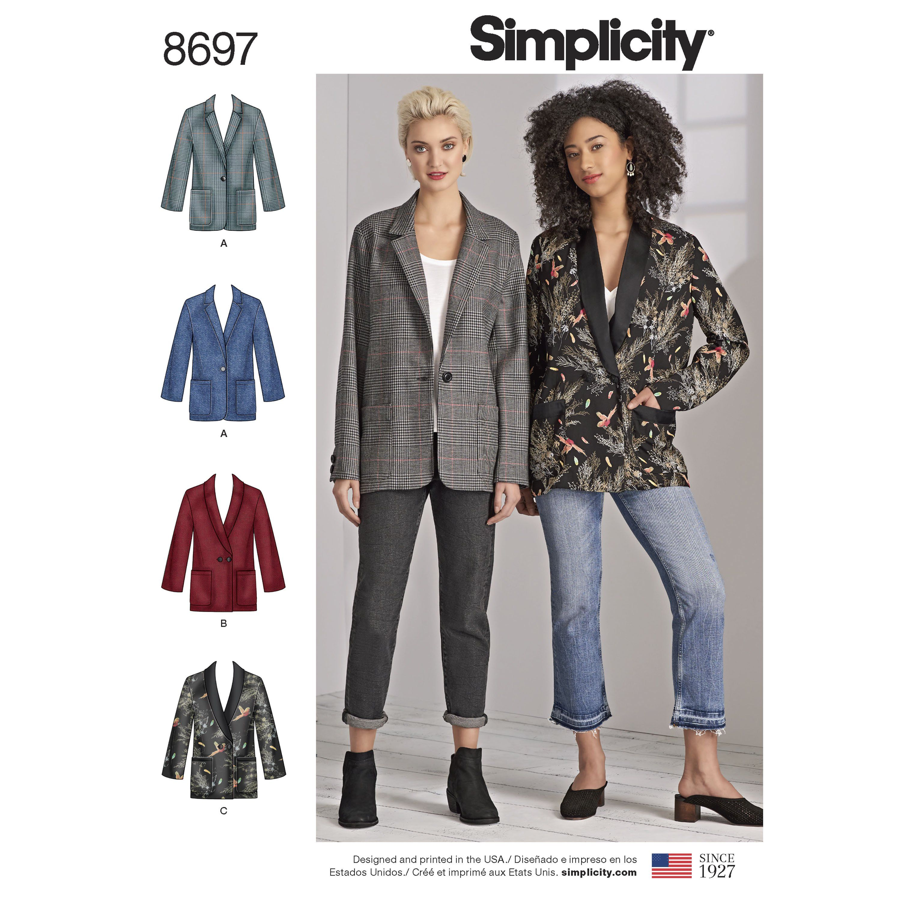 8cdeb47c0afe Simplicity 8697 Misses'/Women's Oversized Blazers   I wanna sew ...