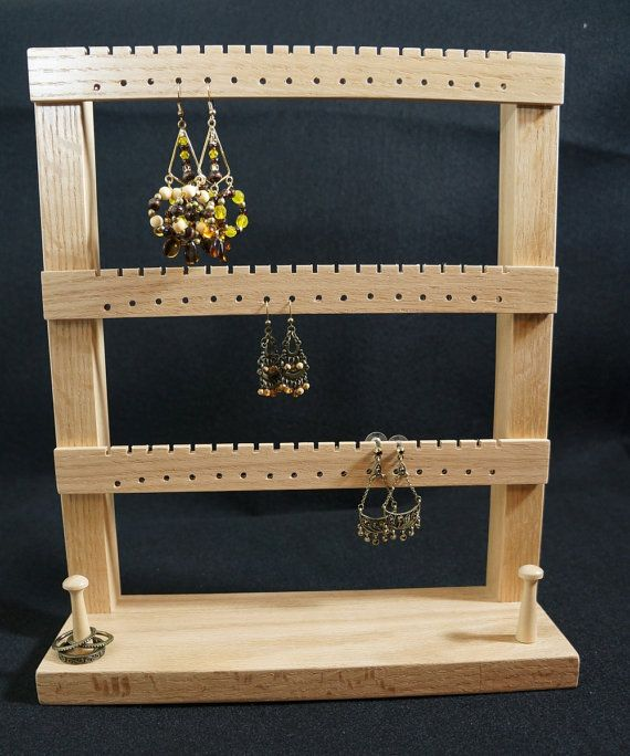 Earring Holder Earring Hanger Earring Stand and Jewelry Organizer - Holds up to 50 pairs