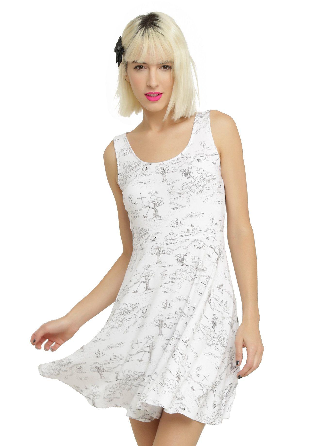 ba11fb7f2a07 Disney Winnie The Pooh Hundred Acre Wood Bow Back Dress   Clothes ...