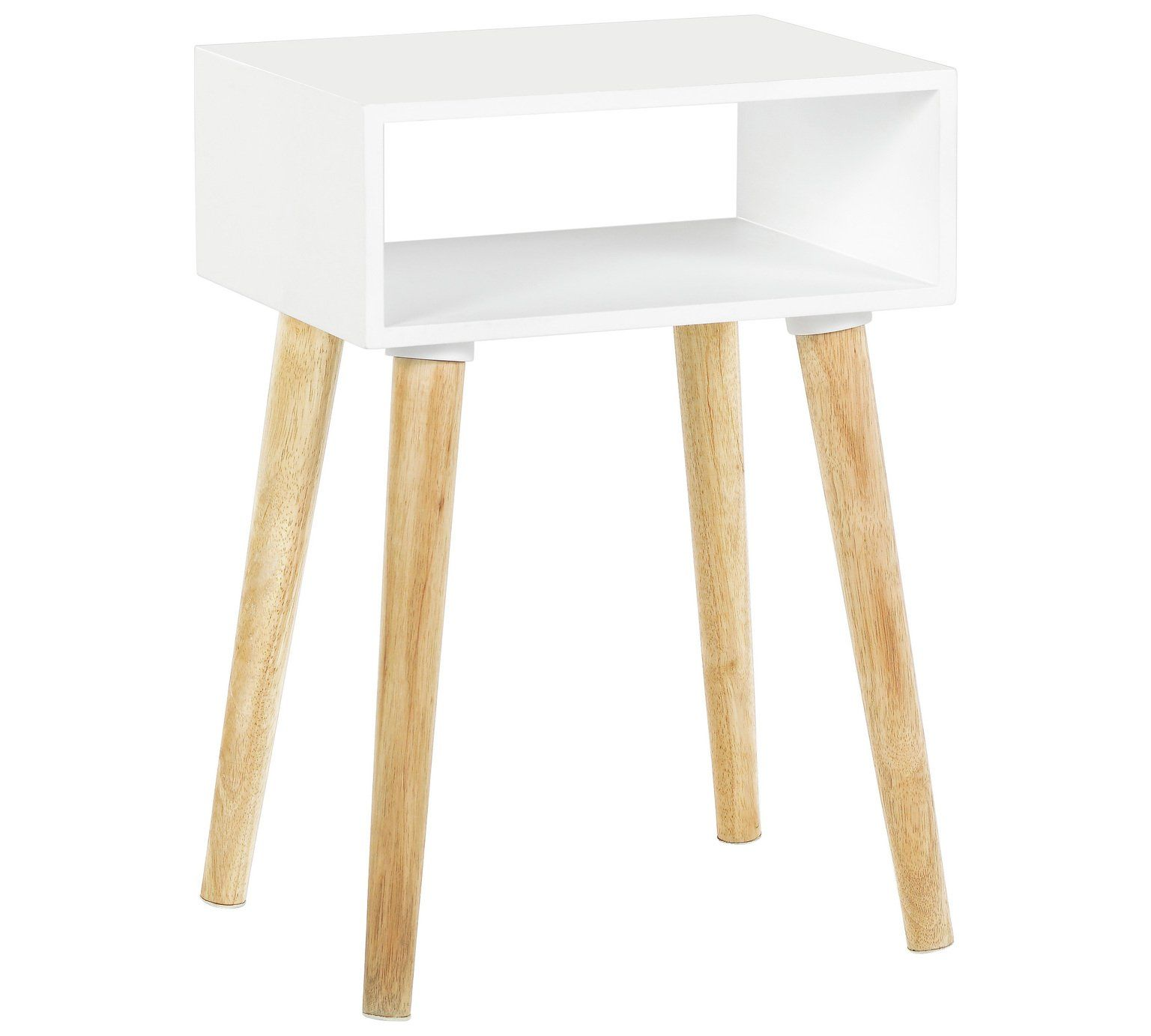 Buy Habitat Cato Solid Wood Side Table White at Argos Your
