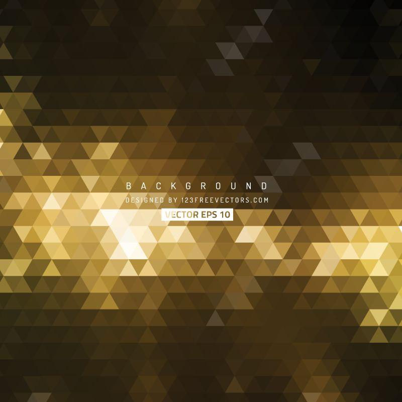 Black Gold Triangle Shape Background Vector Triangle Shape