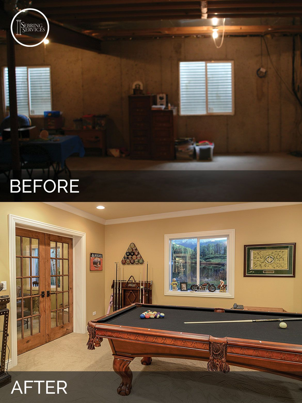 Basement Remodeling Ideas Before And After brian & danica's basement before & after pictures | basements and