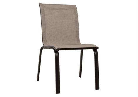 Zeno Sling Armless Chair Aluminium Chairs Outdoor