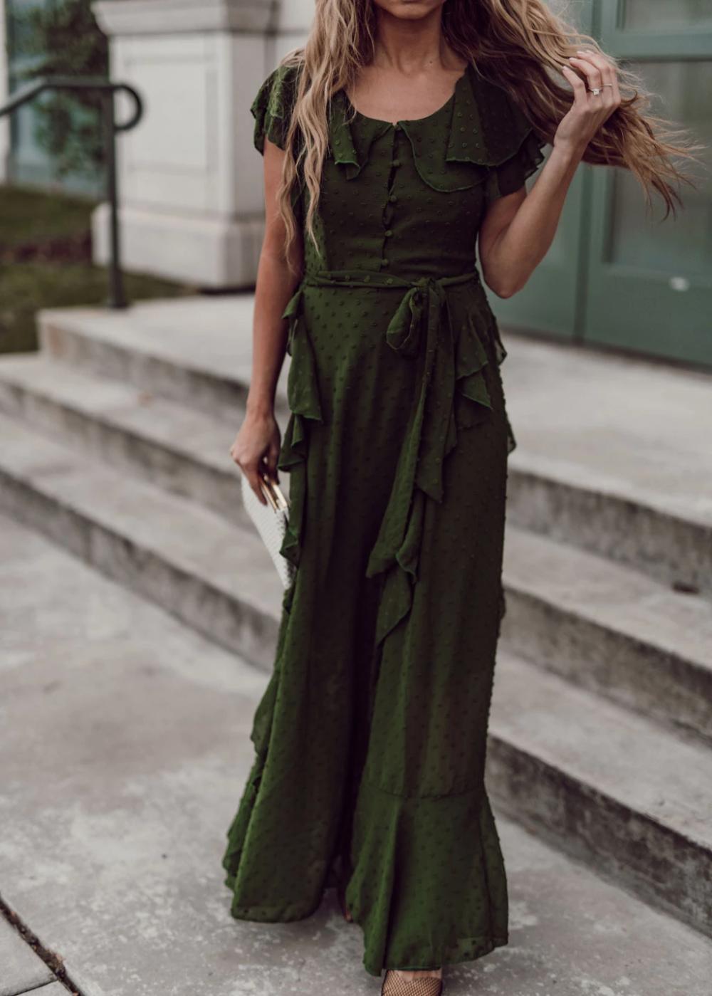 Enchanted Swiss Dot Maxi Dress Jessakae Headband Modest Dress Maxi Dress Ootd Dressy Wavy Hair Style W Women Easter Outfits Modest Dresses Maxi Dress [ 1399 x 1000 Pixel ]