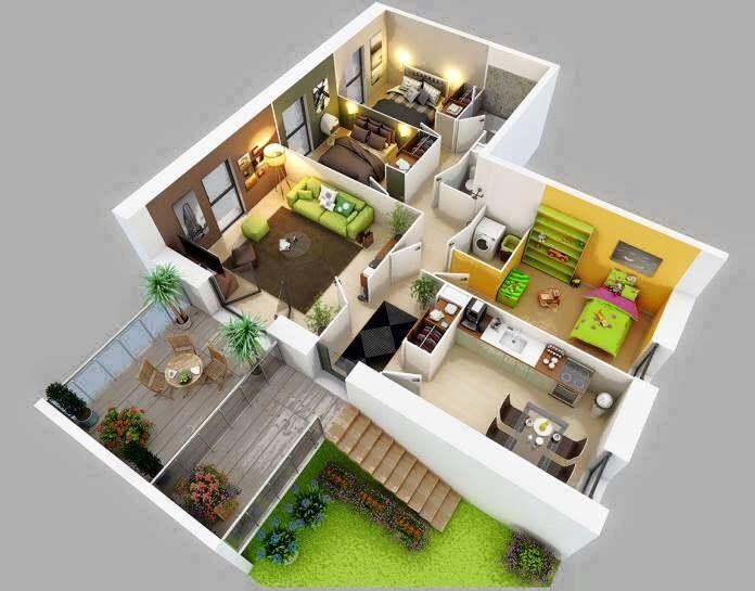 Architekturdesign, 3d Haus Pläne, Kleine Hauspläne, Schlafzimmer  Grundrisse, Wohnungsgrundrisse, Landhaus, Schlafzimmer, Haus Pläne,  Architektur