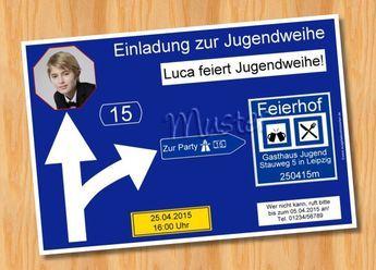 Witzige LUSTIGE Einladungskarten Zur Jugendweihe