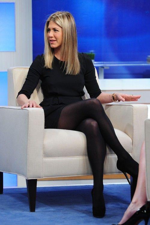 black Jennifer aniston pantyhose in
