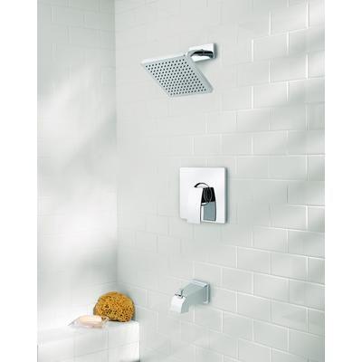 Pfister Kamata Polished Chrome Square Head Tub And Shower Faucet