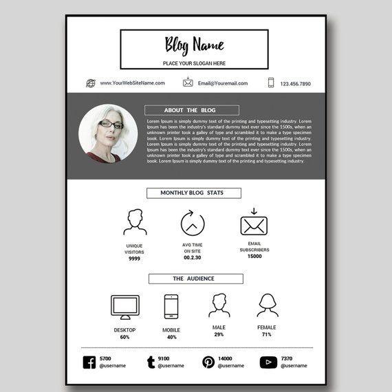Custom Media Kit, Media Kit Template, Mixed Media Kit, AD Rate Sheet