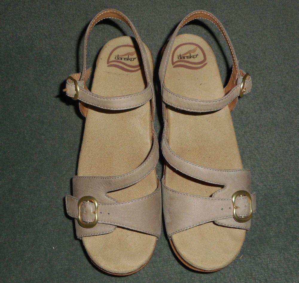 Women's Beige DANSKO Buckle Strap Open Toe Sandals Shoes, Size 9.5, Good Shape! #Dansko #BuckleStrapOpneToeSandalsShoes