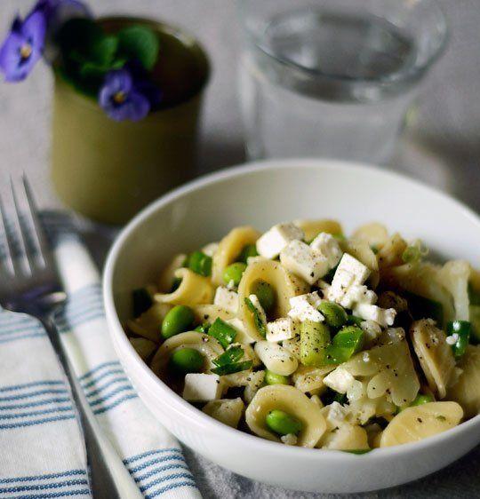 Edamame Cauliflower Pasta Salad With Feta Recipe Cauliflower