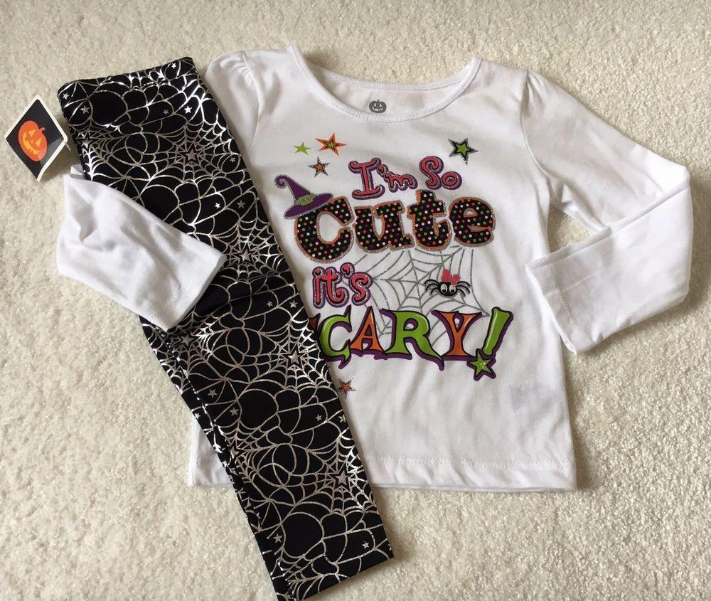 fe2812745 Toddler baby girl halloween 👻 🎃 outfit long sleeve shirt +leggings ...