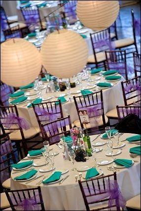 27 Beautiful Purple And Turquoise Wedding Decorations | Turquoise ...