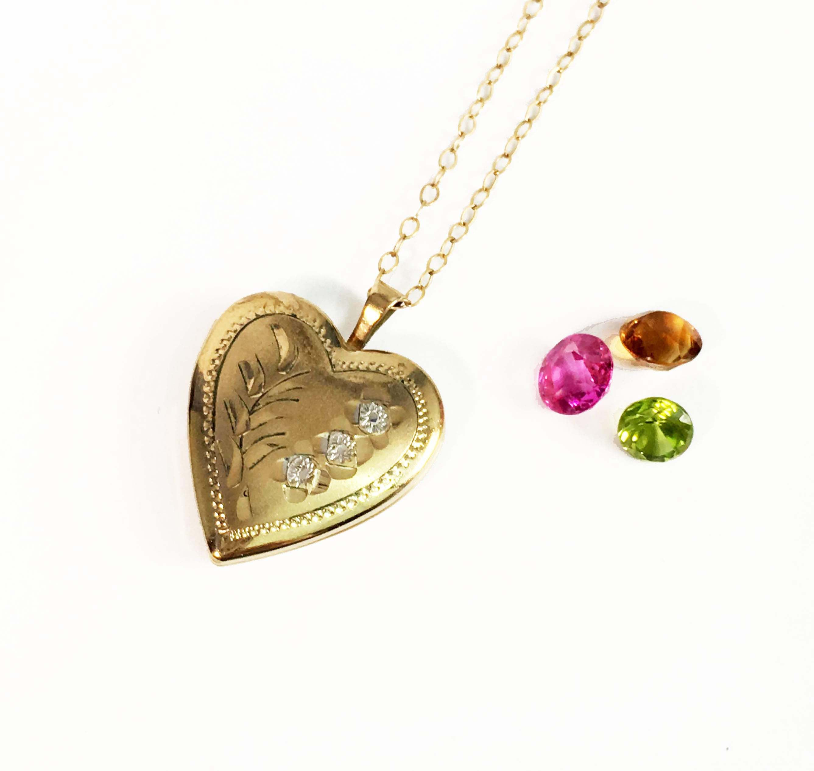 0a352b677698b Vintage 14k Gold Filled Heart Locket Necklace - Princess Pride Creations  PPC Petite Pendant Charm Jewelry