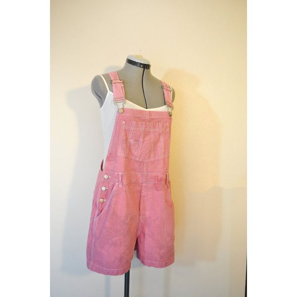 Pink 11/13 Jrs Large Bib Overall Shorts Mauve Pink Dyed Upcycled No... (125 BRL) ❤ liked on Polyvore featuring jumpsuits, black, overalls, women's clothing, pink bib overalls, black overalls, shorts overalls, bib overalls and overall