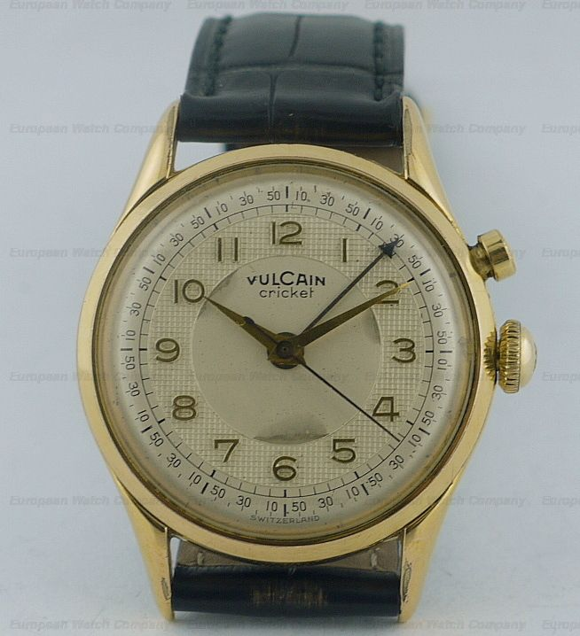European Watch Company: Vulcain Vulcain Cricket Steel/Gold Plated | Vintage  watches, Watches unique, Beautiful watches