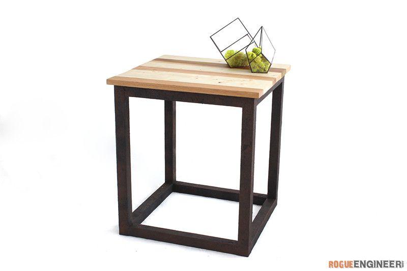 Scrap Industrial Side Table » Rogue Engineer