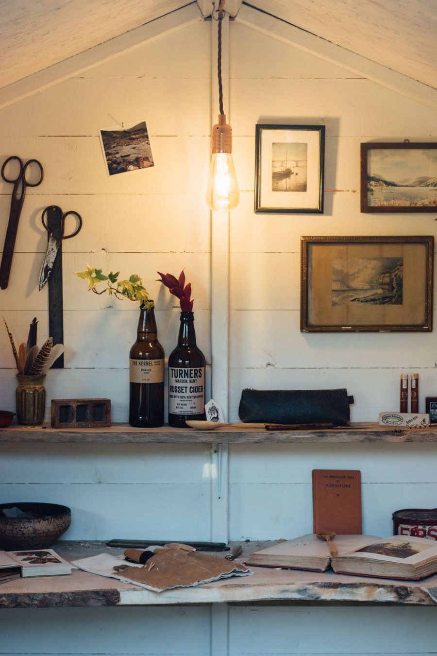 Garden shed makeover - Rustic Man Cave | Dreams of a Cottage ...