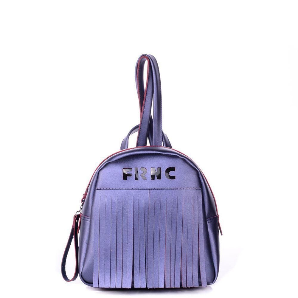 c5df6cb839 Γυναικεία τσάντα πλάτης FRNC by Francesco από συνθετικό δέρμα με εσωτερικό  τσεπάκι και πορτοφόλι.Κλείνει