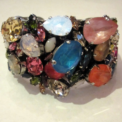 ERICKSON BEAMON FLOWER FAIRIE CUFF IN ARCADE-- This reminds me of playing dress-up in my grandmother's jewelry.
