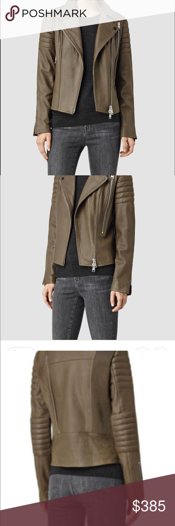 Allsaints Obika Leather Jacket Olive Green Leather Jacket Green Leather Jackets Leather Jacket [ 1740 x 580 Pixel ]