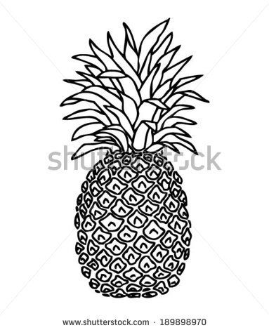 Pineapple - hand-drawn t-shirt design, cool doodle, vector illustration, ready to print by image4stock, via Shutterstock
