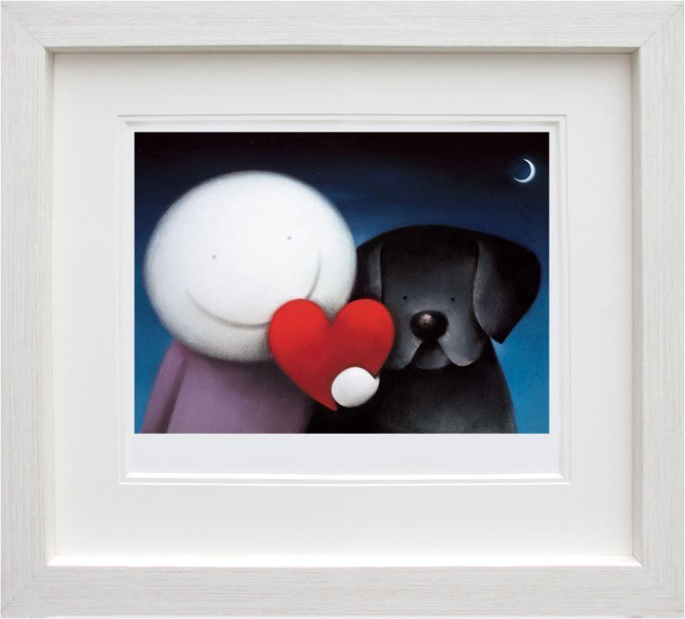 doug hyde  we share love  framed art print  framed art