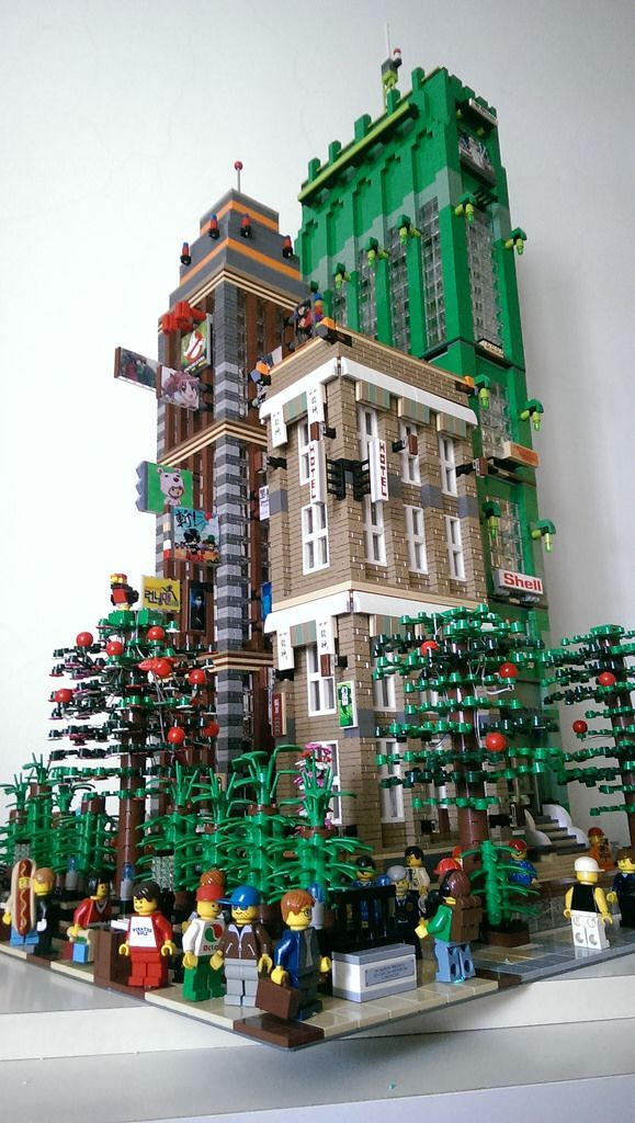 Brave New high rise, part of my expansion Lego city. The Anime ...