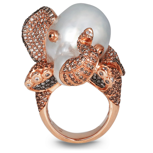 Elephant Diamond Ring | Jacob & Co. | Timepieces | Fine Jewelry | Engagement Rings