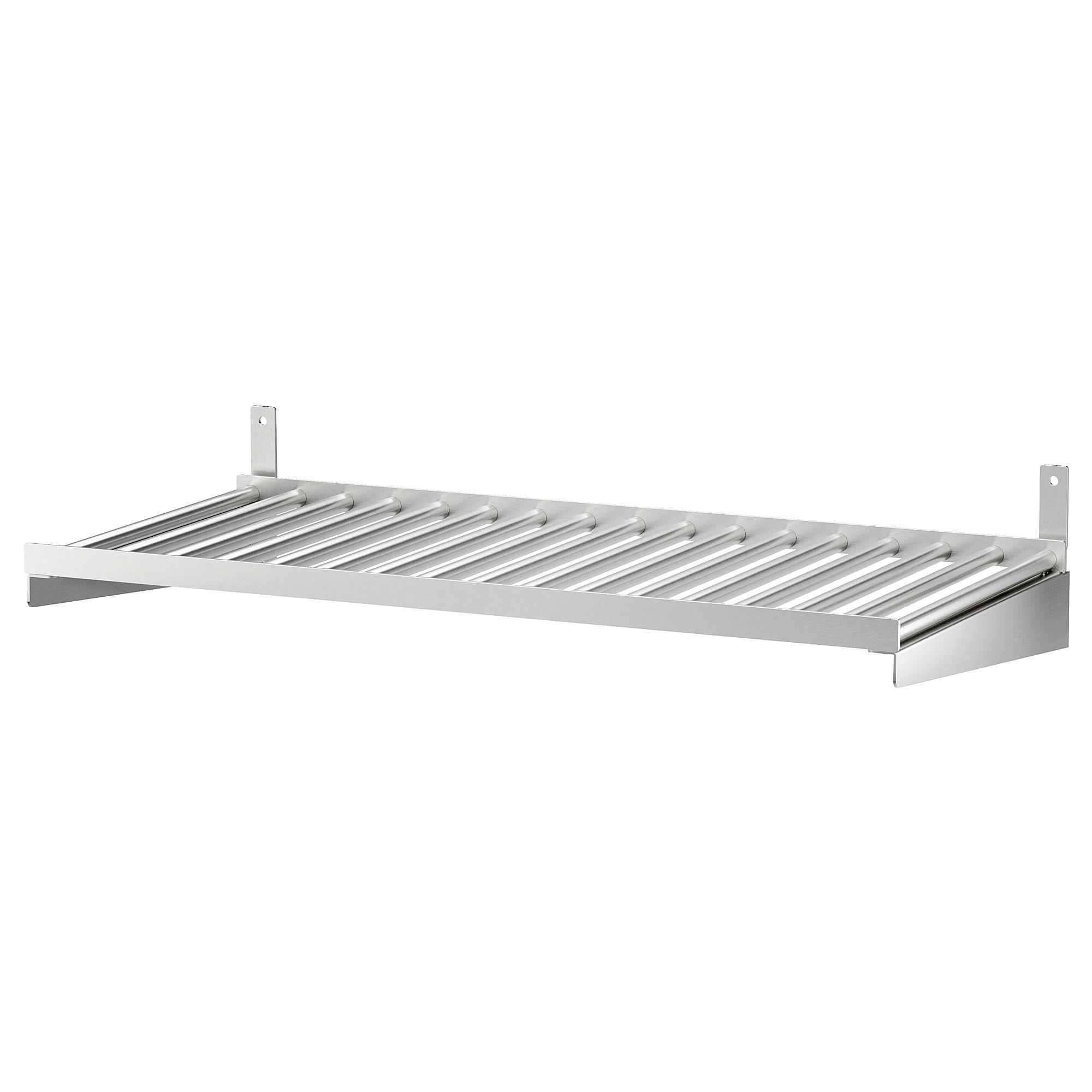 Ikea Kungsfors Stainless Steel Shelf Shelves Ikea Steel Wall
