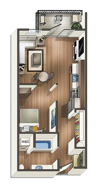 Floor Plans Of The Henry In Tacoma Wa Studio Floor Plans Apartment Layout Studio Apartment Floor Plans