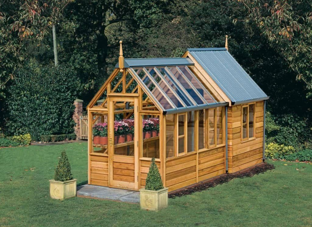 Wooden Garden Potting Shed With Glass Roofs The Ultimate Garden Potting Shed Sheddesigns