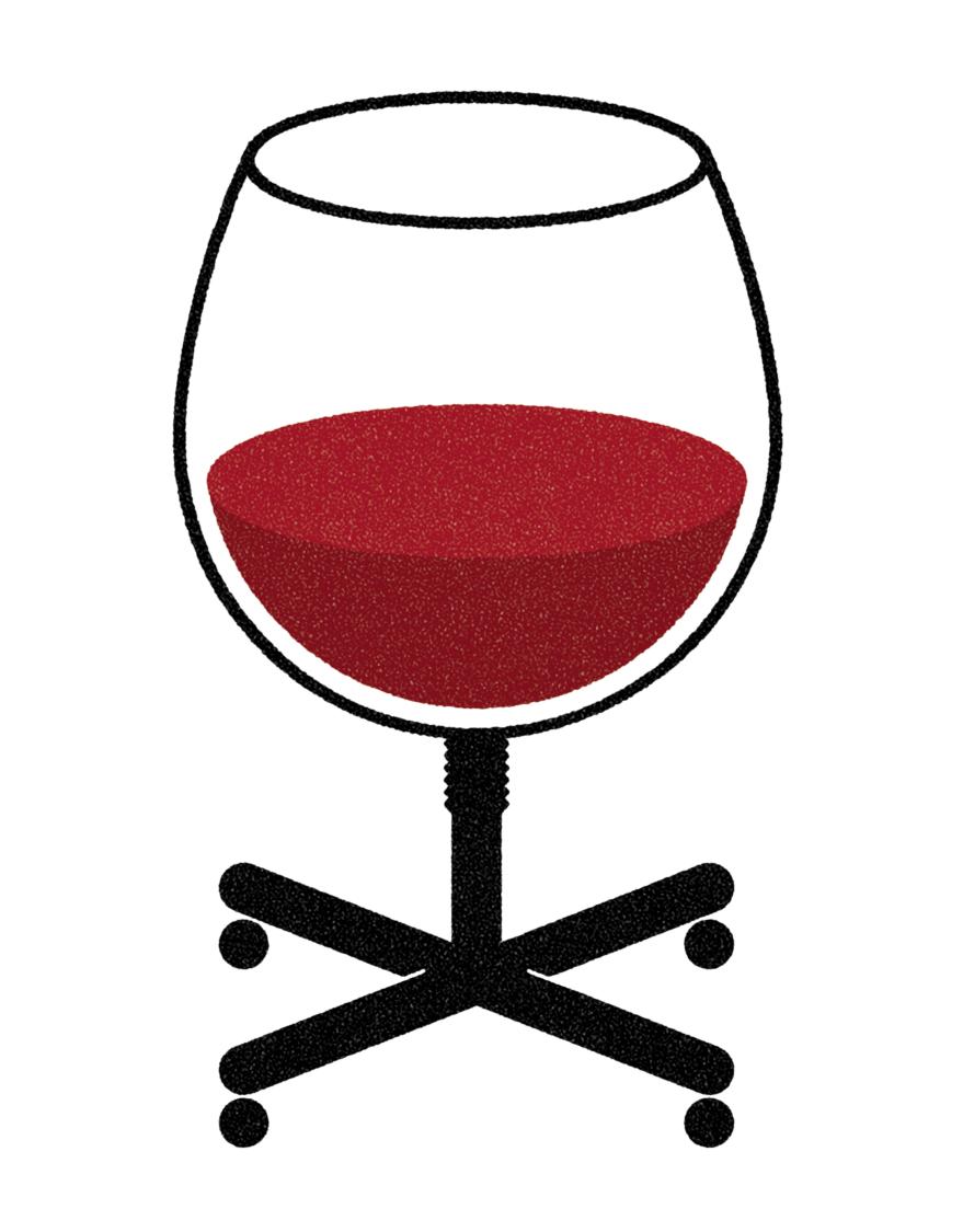 Parce qu'au boulot, on boit. #wine Illustrations — Bryan Satalino