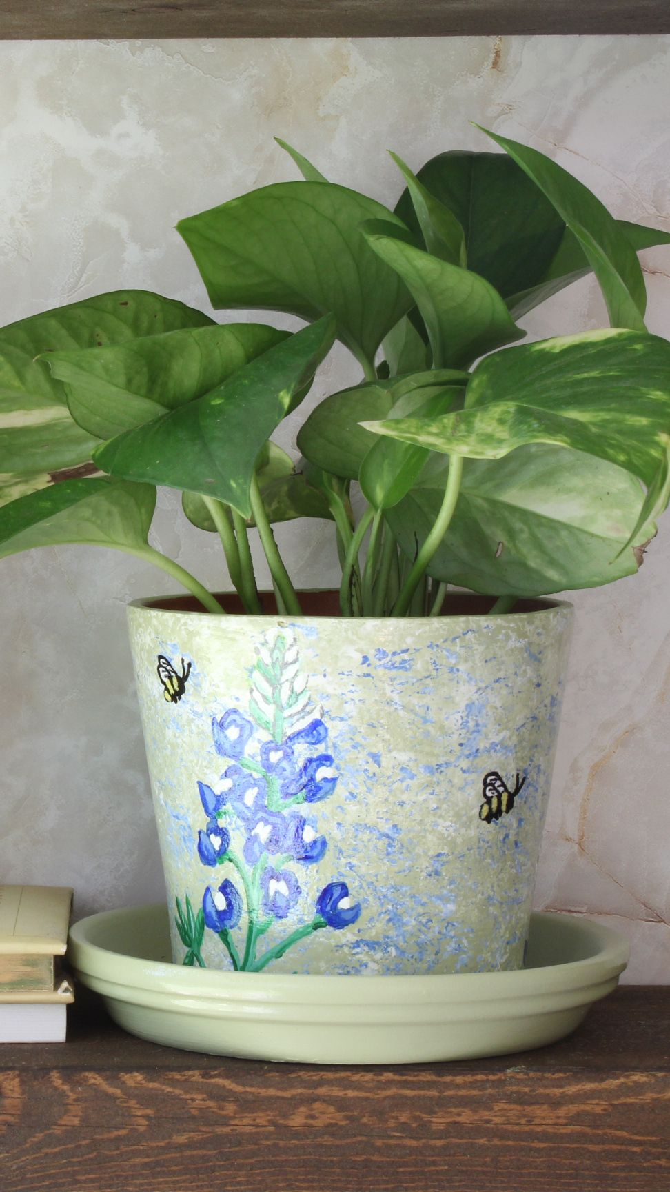 Pin On Potsetc Hand Painted Flower Pots