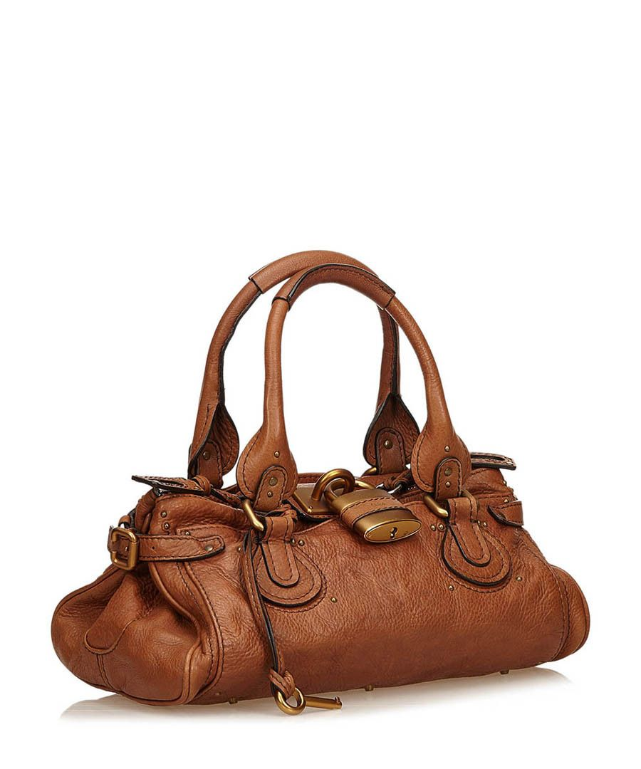 VINTAGE Chloé Paddington tan leather shoulder bag Chloe Paddington ac869fe529c6c