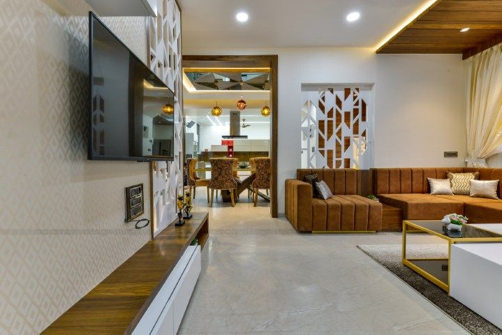 Contemporary Indian House In Indore Aarambh Design Studio The Architects Diary Hall Interior Design Living Hall Design Indian Homes