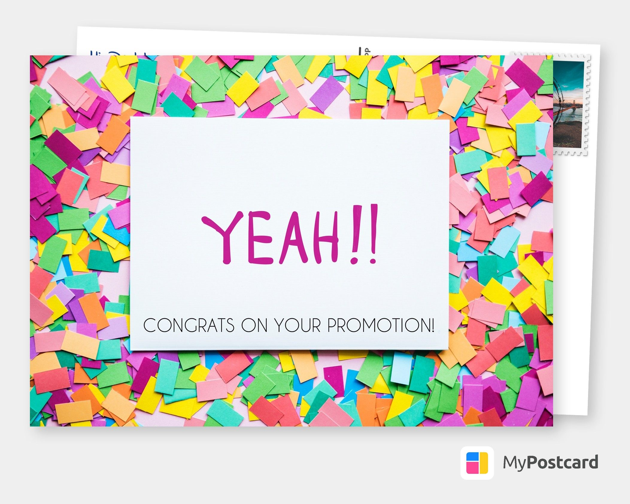Yeah Congratulation Cards Quotes Send Real Postcards Online Congratulations Card New Job Congratulations Congrats On New Job