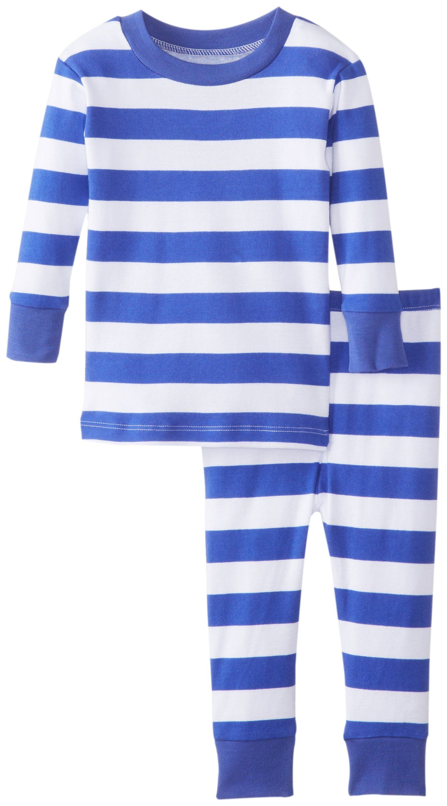 amazoncom new jammies babyboys infant blue white stripes  - amazoncom new jammies babyboys infant blue white stripes organic babypajamas
