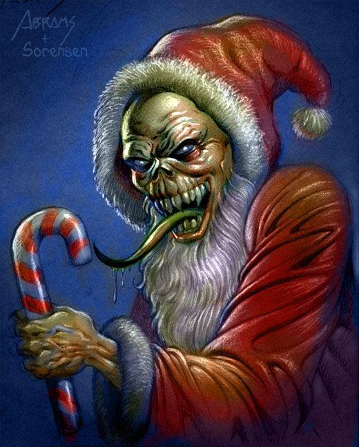 Ghoul Santa By Paulabrams On Deviantart Creepy Christmas Scary Christmas Christmas Horror