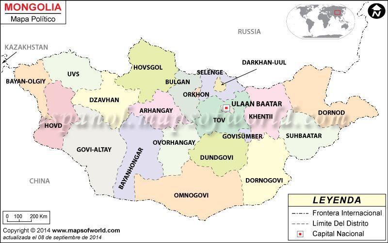 Mongolia Mapa Mongolia
