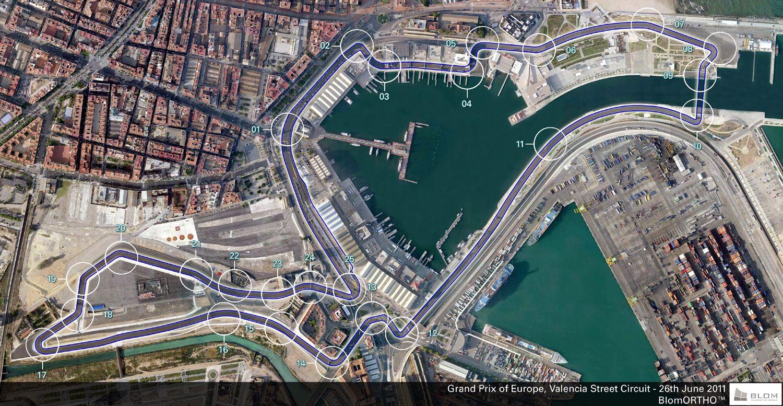 Circuito Urbano Valencia : Circuito de formula valencia full hd maps locations another
