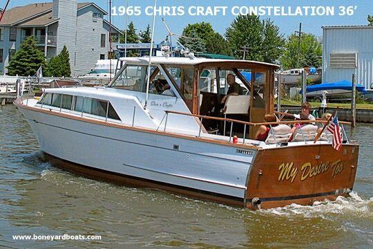 65 Chris Craft Constellation Chris Craft Boats Boat Design