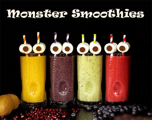 Monster Smoothies for Halloween | The Bearfoot Baker