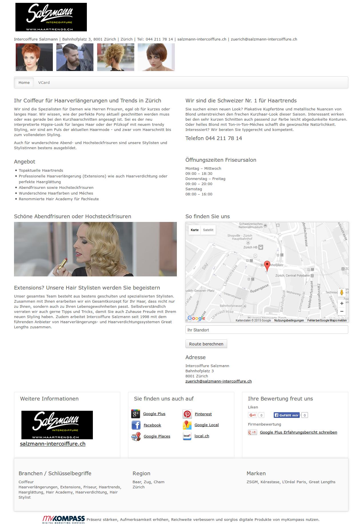 Intercoiffure Salzmann Zürich Haarverlängerungen Extensions