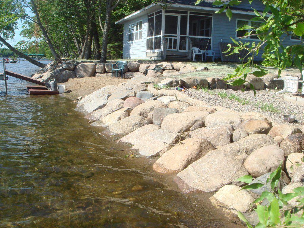 shoreline repair lakeshore rip-rap