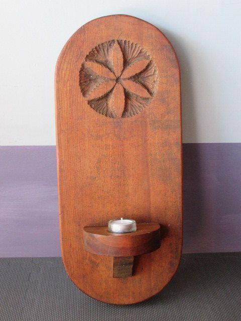 Scounce Wood Candle Holder Vintage Sconce Southwest