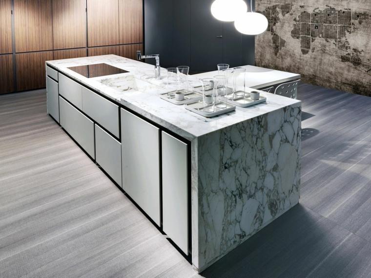 Küchenarbeitsplatten luxuriöser Marmor, der blenden wird Küche - Nolte Küchen Fronten Farben